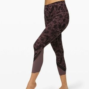 Lululemon Wunder Under Scallop Crop High Rise